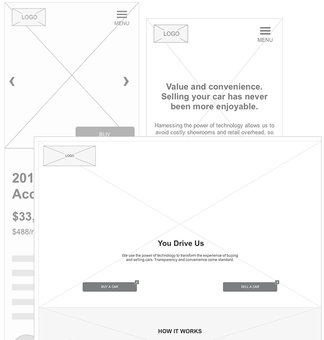 Curbie Wireframes