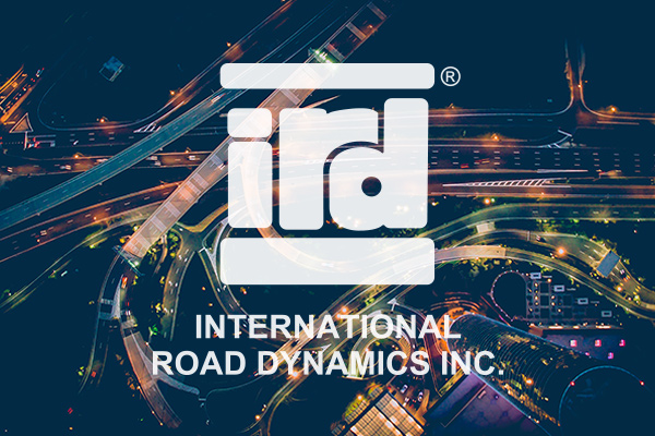 IRD's logo over top a city with traffic